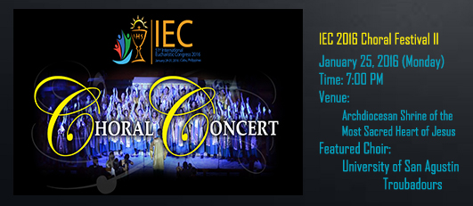 Chorale Concert banner (January 25)