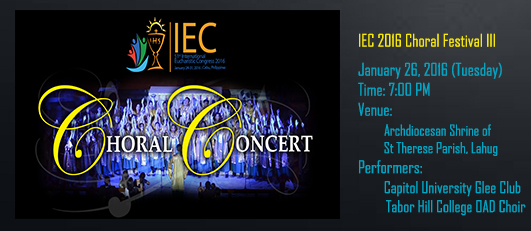 Chorale Concert banner (January 26)