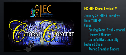 Chorale Concert banner (January 28)