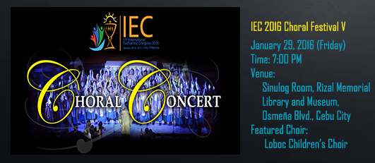 Chorale Concert banner (January 29)