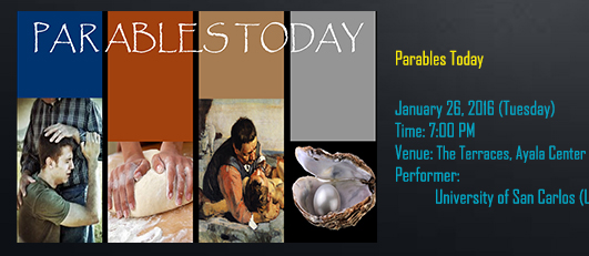 Parables today banner